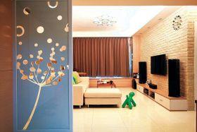 创意清新混搭风格客厅隔断效果图赏析