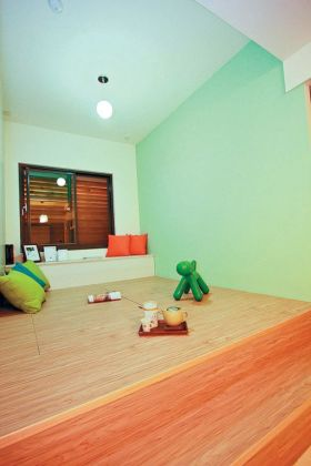 绿色日式风格阁楼榻榻米设计赏析