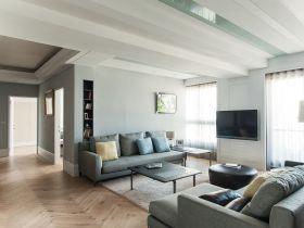 绿色北欧风格客厅效果图设计
