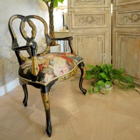 原木色新古典风格隔断椅子案例