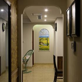 黄色创意美式风格过道装潢欣赏