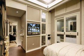 米色简欧风格小户型背景墙设计装潢