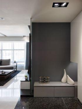 灰色别致时尚简约玄关效果图设计