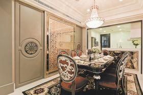 米色新古典雅致时尚风格餐厅设计赏析