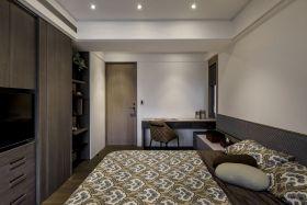 复古时尚灰色现代风格衣卧室柜装修布置