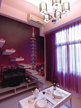 雅致紫色现代风格楼梯装修