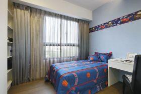 白色现代风格儿童房卧房设计图