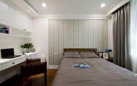 灰色美式卧室效果图