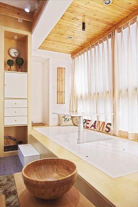 原木色日式风格阳台榻榻米效果图欣赏