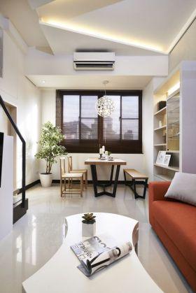 白色质朴素雅简约风格餐厅吊顶设计图