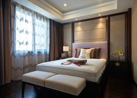 褐色中式风格卧室装修效果图设计