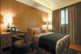 米色新古典风格卧室图片欣赏