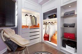 白色简约风格衣帽间衣柜欣赏