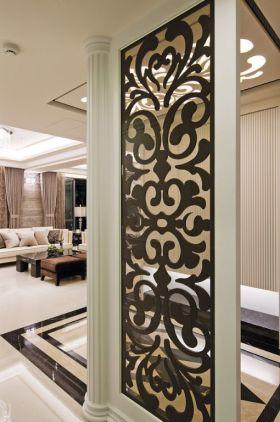 雅致时尚米色欧式风格隔断设计装潢