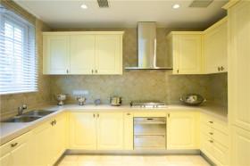 2016白色现代风格厨房橱柜装饰设计图片