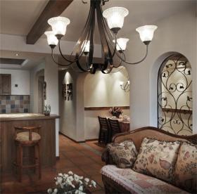 精致复古田园风格客厅装潢图片
