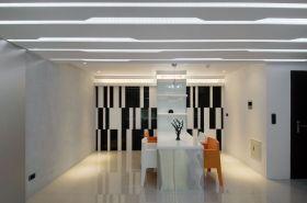 白色简约风格餐厅吊顶装修效果图