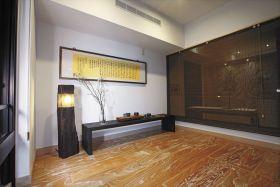 新中式禅意雅致风格原木风格休闲室装饰图