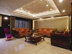 橙色混搭客厅设计案例
