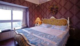 欧式田园红色卧室装修布置
