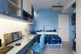 蓝色地中海风格儿童房装修图