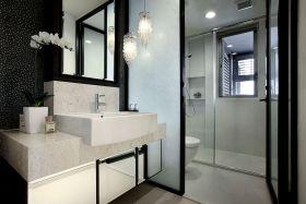 简洁宜家风格白色卫生间装修效果图片