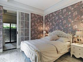米色浪漫欧式田园风格卧室图片欣赏