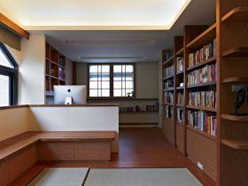 中式风格原木色书房装修设计