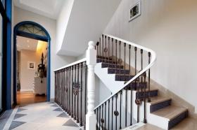 蓝色浪漫地中海雅致风格楼梯设计图