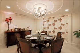 褐色新古典风格餐厅桌椅美图赏析