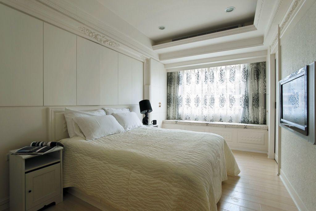 简欧风格浪漫白色卧室装修图