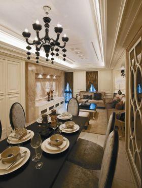 优雅复古简欧风格餐厅装饰案例