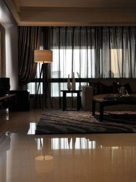 时尚雅致现代风格客厅窗帘装修效果图