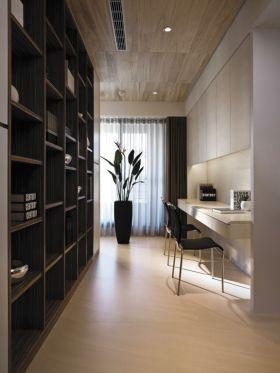 米色素雅简约风格书房设计案例