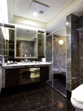 2016黑色现代风格卫生间装修案例