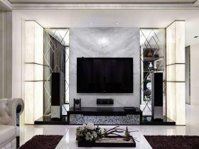 黑白时尚简欧风格背景墙装饰案例