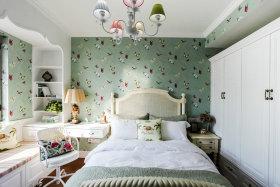 绿色清新美式卧室装修设计