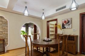 中式风格雅致黄色餐厅装修效果图片
