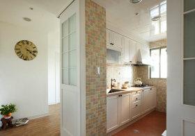 白色田园厨房装饰设计图片