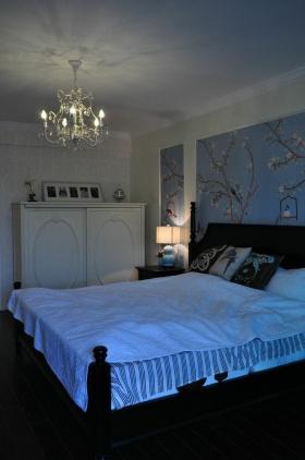 中式蓝色卧室设计赏析