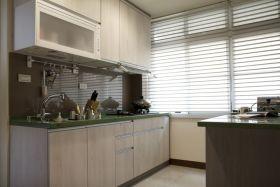 绿色简约风格厨房橱柜赏析