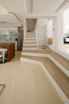 白色雅致时尚现代风格楼梯欣赏
