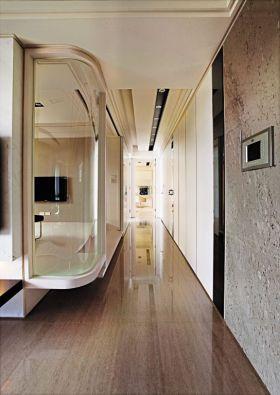 米色现代风格过道装潢设计