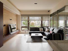 清爽米色现代风格客厅装潢