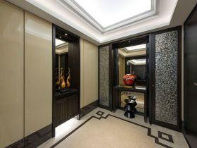 现代雅致新中式黑色玄关装修设计