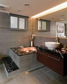 灰色简约风格卫生间装饰设计