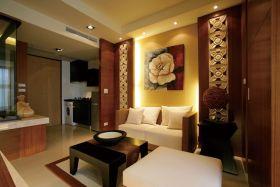 中式风格温馨黄色客厅装饰设计图片