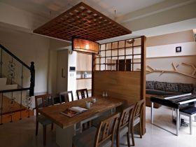 改良新中式风格雅致餐厅欣赏