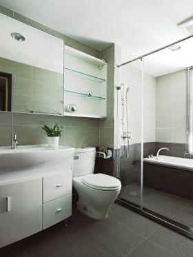 自然清爽现代风格卫生间装潢案例