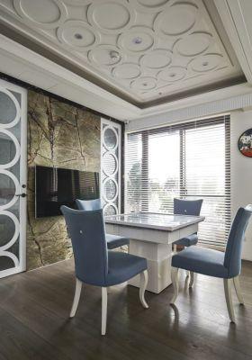 新古典米色餐厅背景墙效果图欣赏